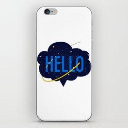 Hello Cloud iPhone Skin