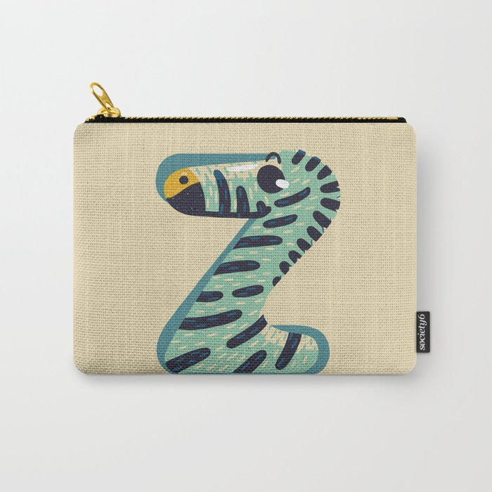 Z for Zebra Carry-All Pouch