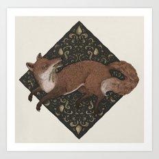 Fox Hops Art Print