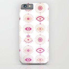 Evil Eyes – Pink Ombré Palette iPhone Case