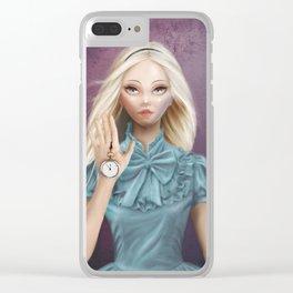 Alice - Cameo Portrait Clear iPhone Case