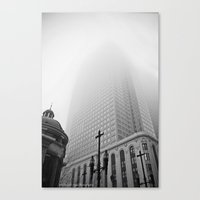 blankets Canvas Prints featuring blankets of cloud by Elizabeth Joyal