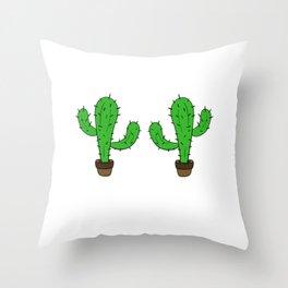 Awesome Expert Tshirt Design CACTUS EXPERT Throw Pillow
