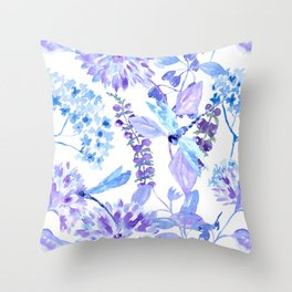 Dragonfly Dance Throw Pillow