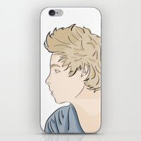 luke hemmings iPhone & iPod Skins featuring Luke - watercolor by Feds