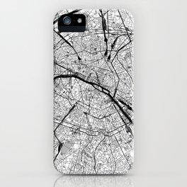 Paris Black and White Map iPhone Case