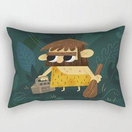 Caveman & Pet Rock Rectangular Pillow