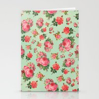 floral pattern Stationery Cards featuring FLORAL PATTERN by Allyson Johnson