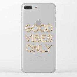 Neon Good Vibes - Orange Clear iPhone Case