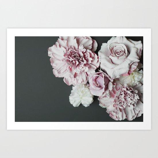 Pale Flowers Art Print