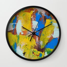 Abstract Expression #8 by Michael Moffa Wall Clock