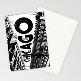 Cities in Black - Chicago Stationery Cards