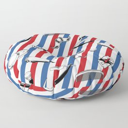 Barber Shop Pattern Floor Pillow