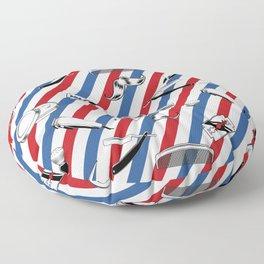Barber Shop Pattern Floor Pillow
