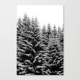 snowy christmas TREES Canvas Print