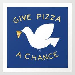 War & Pizza Art Print