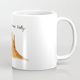 Valley of Monuments with Color  Coffee Mug