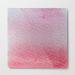 Gradient watercolor - pink and red Metal Print