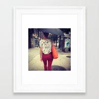 boobs Framed Art Prints featuring Boobs  by Ann Yoo
