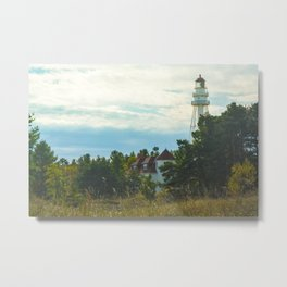 Discover (Rawley Point Lighthouse, Wisconsin) Metal Print