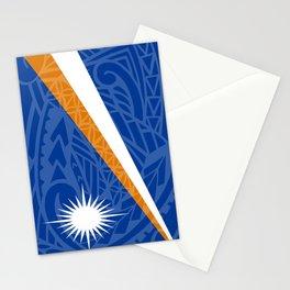Marshall Islands Flag Island Style Stationery Cards