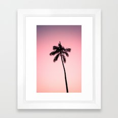 palm tree ver.pink Framed Art Print