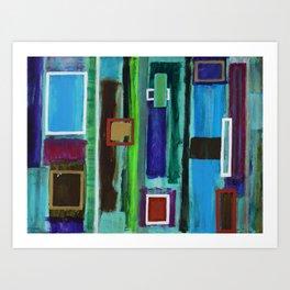 "Windows series ""Blue"" Art Print"