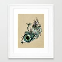 inspiration Framed Art Prints featuring Flowing Inspiration by Enkel Dika