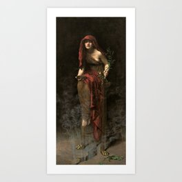John Collier - Priestess of Delphi, 1891 Art Print