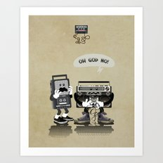 Oh God No! Art Print