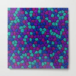 Jewel Tones Mosaic I Metal Print