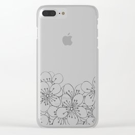Cherry Blossom Boarder Clear iPhone Case