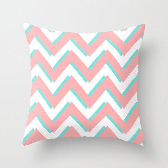 3D CHEVRON 3 Throw Pillow