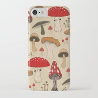 mushrooms iPhone & iPod Cases featuring Mushrooms by Lynette Sherrard Illustration and Design