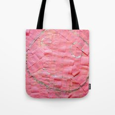 Smile on a pink toilet paper Tote Bag
