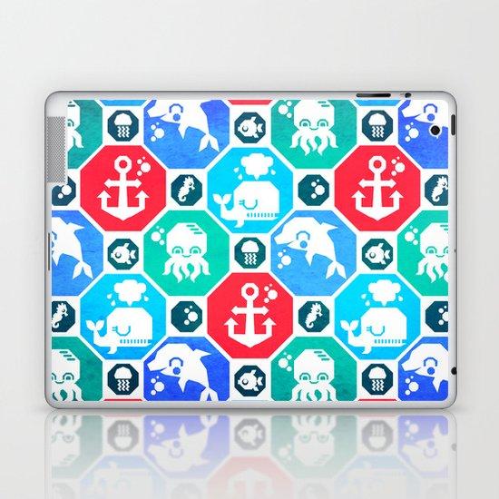 Marine Animals Geometric Pattern Laptop & iPad Skin