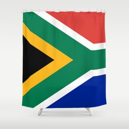Flag of South Africa, Authentic color & scale Shower Curtain
