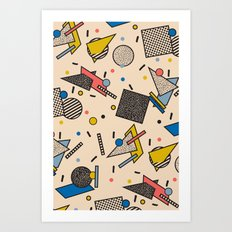 Memphis Inspired Pattern 7 Art Print
