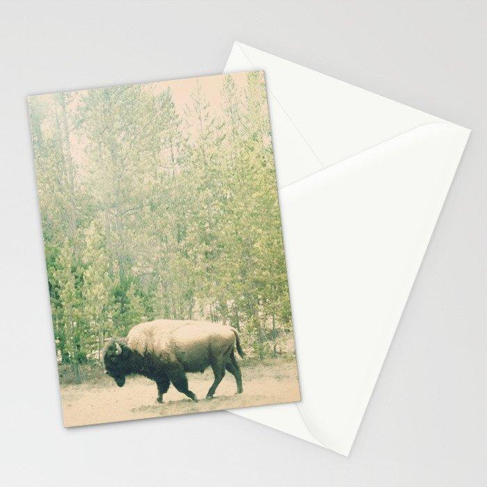 bison I Stationery Cards