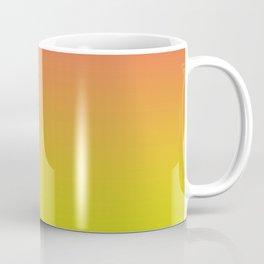 Pantone Living Coral & Sulphur Spring Gradient Ombre Blend Coffee Mug