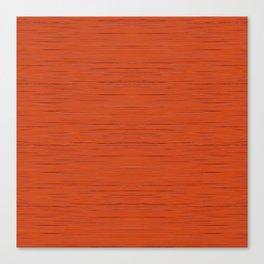 Meteor Stripes - Rust Orange Canvas Print
