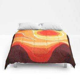 Modern Mid-Century Desert Sunset Comforters