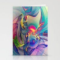 sunrise Stationery Cards featuring Sunrise by Klara Acel
