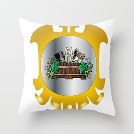Guild of Brewers Throw Pillow