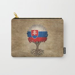 Vintage Tree of Life with Flag of Slovakia Carry-All Pouch