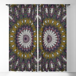 Look Into My Eyes - Abstract Kaleidoscope Art by Fluid Nature Blackout Curtain