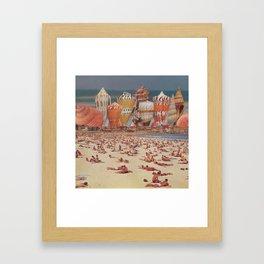 Bondi Sand Castles Framed Art Print