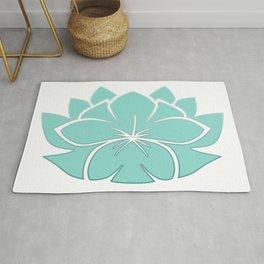 M Designs co lotus plumeria blossom Rug