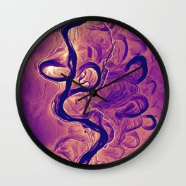 Mississippi River Plate 7 Wall Clock