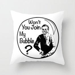 Mr. Rogers Pandemic Lockdown Quarantine Bubble Friendship Throw Pillow